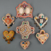 Seven Iroquois Beaded Cloth Whimsies... (Total: 7 )