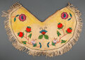 American Indian Art:Beadwork and Quillwork, A Plateau Beaded Hide Cape...