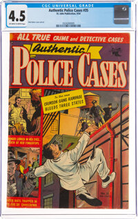 Authentic Police Cases #35 (St. John, 1954) CGC VG+ 4.5 Off-white to white pages