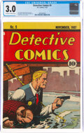 Platinum Age (1897-1937):Miscellaneous, Detective Comics #9 (DC, 1937) CGC GD/VG 3.0 Off-white to white pages....