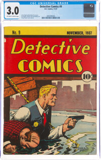 Detective Comics #9 (DC, 1937) CGC GD/VG 3.0 Off-white to white pages