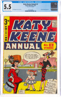 Golden Age (1938-1955):Humor, Katy Keene Annual #3 (Archie, 1957) CGC FN- 5.5 Off-white to white pages....