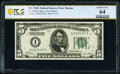 Small Size:Federal Reserve Notes, Fr. 1950-A $5 1928 Federal Reserve Note. PCGS Banknote Choice Unc 64.. ...