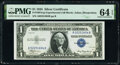 Small Size:Silver Certificates, Fr. 1607 $1 1935 Silver Certificate. A-B Experimental. PMG...