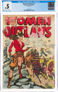Women Outlaws #2 (Fox Features Syndicate, 1948) CGC PR 0.5 Off-white to white pages