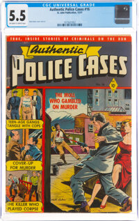Authentic Police Cases #16 (St. John, 1951) CGC FN- 5.5 Off-white to white pages