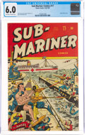 Golden Age (1938-1955):Superhero, Sub-Mariner Comics #17 (Timely, 1945) CGC FN 6.0 Off-white to white pages....