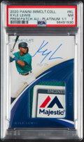 Baseball Cards:Singles (1970-Now), 2020 Panini Immaculate Collection Kyle Lewis (Premium Patch Autographs - Platinum) #KL PSA NM 7 - #'d 1/1!...