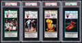 Basketball Collectibles:Others, 1992-95 Chicago Bulls Ticket Stubs from Michael Jordan High Scoring Games, PSA Authentic.... (Total: 4 items)
