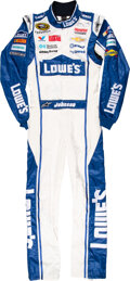 Miscellaneous Collectibles:General, 2014 Jimmy Johnson Worn & Signed Sprint Cup Series Fire Suit....