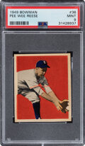 Baseball Cards:Singles (1940-1949), 1949 Bowman Pee Wee Reese #36 PSA Mint 9 - Only One Higher...