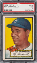 Baseball Cards:Singles (1950-1959), 1952 Topps Roy Campanella #314 PSA EX 5. Offered h...