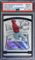 Baseball Cards:Singles (1970-Now), 2009 Bowman Sterling Mike Trout (Prospects - Auto) #BSP-MT PSA Mint 9, Auto 10....