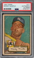 Baseball Cards:Singles (1950-1959), 1952 Topps Mickey Mantle #311 PSA Authentic. In Ja...