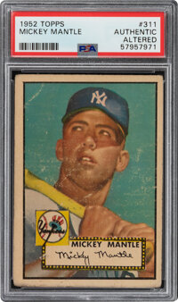 1952 Topps Mickey Mantle #311 PSA Authentic