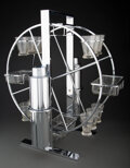 Decorative Accessories, Norman Bel Geddes (American, 1893-1958). Ferris Wheel Cocktail Service, circa 1935, Revere Copper and Brass Co.. Chromed... (Total: 18 Items)