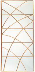 Furniture, Christopher Guy (British, 1960-2020). Dior Five-Panel Mirror, late 20th century. Glass, giltwood. 98-3/8 x 44-7/8 inches... (Total: 3 Items)