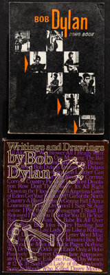 """Bob Dylan Lot (Various, 1965/1981). Fine/Very Fine. Softcover Book (143 Pages, 7.5"""" X 10.5"""") & Hardcover B..."""