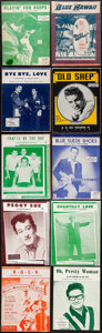 """Movie Posters:Elvis Presley, Elvis Presley & Other Lot (Various, 1950s - 1960s). Overall: Very Fine-. Sheet Music (24) (Multiple Pages, Approx. 9"""" x 12"""")... (Total: 24 Items)"""