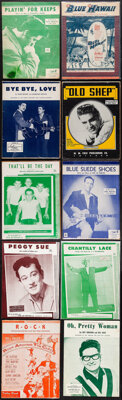 Elvis Presley & Other Lot (Various, 1950s - 1960s). Overall: Very Fine-. Sheet Music (24) (Multiple Pages, Approx. 9...