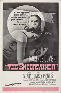 """The Entertainer (Continental, 1960). Folded, Very Fine. One Sheet (27"""" X 41""""). Drama"""