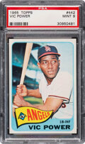 Baseball Cards:Singles (1960-1969), 1965 Topps Vic Power #442 PSA Mint 9 - Only Two Higher!