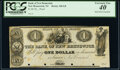 Obsoletes By State:New Jersey, New Brunswick, NJ- Bank of New Brunswick $1 18__ G8 Proof PCGS Extremely Fine 40, POCs.. ...