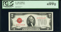 Small Size:Legal Tender Notes, Fr. 1505 $2 1928D Legal Tender Note. PCGS Gem New 65PPQ.