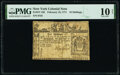 Colonial Notes:New York, New York February 16, 1771 10s PMG Very Good 10 Net.. ...