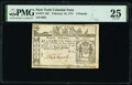 Colonial Notes:New York, New York February 16, 1771 £3 PMG Very Fine 25.. ...