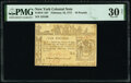 Colonial Notes:New York, New York February 16, 1771 £10 PMG Very Fine 30 Net.. ...