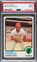 Baseball Cards:Singles (1970-Now), 1973 Topps George Foster #399 PSA Mint 9 - Only One Higher...