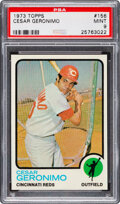 Baseball Cards:Singles (1970-Now), 1973 Topps Cesar Geronimo #156 PSA Mint 9 - Only One Highe...