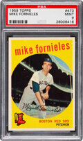 Baseball Cards:Singles (1950-1959), 1959 Topps Mike Fornieles #473 PSA Mint 9 - Pop Four, Only...