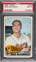 Baseball Cards:Singles (1960-1969), 1965 Topps Mike McCormick #343 PSA Mint 9 - Only One Highe...