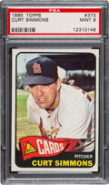 Baseball Cards:Singles (1960-1969), 1965 Topps Curt Simmons #373 PSA Mint 9 - Only Two Higher!...