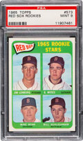 Baseball Cards:Singles (1960-1969), 1965 Topps Red Sox Rookies #573 PSA Mint 9 - Only One Higher!...
