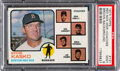 Baseball Cards:Singles (1970-Now), 1973 Topps Red Sox Manager/Coaches (Brown Background) #131 PSA Mint 9 - None Higher! ...