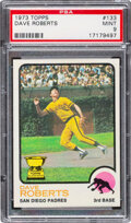 Baseball Cards:Singles (1970-Now), 1973 Topps Dave Roberts #133 PSA Mint 9 - Only One Higher!...