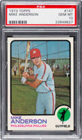 Baseball Cards:Singles (1970-Now), 1973 Topps Mike Anderson #147 PSA Gem Mint 10 - Pop Three....