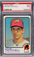 Baseball Cards:Singles (1970-Now), 1973 Topps Wayne Twitchell #227 PSA Mint 9 - None Higher!