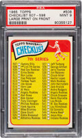 Baseball Cards:Singles (1960-1969), 1965 Topps Checklist 507-598 (Large Print On Front) #508 P...