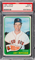 Baseball Cards:Singles (1960-1969), 1965 Topps Jay Ritchie #494 PSA Mint 9 - Only One Higher!
