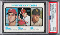 Baseball Cards:Singles (1970-Now), 1973 Topps Rookie Catchers #613 PSA Mint 9 - Four Higher.