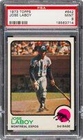 Baseball Cards:Singles (1970-Now), 1973 Topps Jose Laboy #642 PSA Mint 9 - Two Higher.