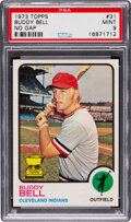 Baseball Cards:Singles (1970-Now), 1973 Topps Buddy Bell (No Gap) #31 PSA Mint 9 - Two Higher...