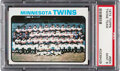 Baseball Cards:Singles (1970-Now), 1973 Topps Twins Team #654 PSA Mint 9 - Only One Higher!