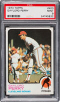 Baseball Cards:Singles (1970-Now), 1973 Topps Gaylord Perry #400 PSA Mint 9 - Only One Higher!...