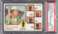 Baseball Cards:Singles (1970-Now), 1973 Topps A's Manager/Coaches (Hoscheit Left Ear Showing)...