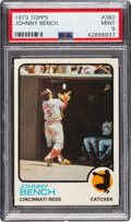 Baseball Cards:Singles (1970-Now), 1973 Topps Johnny Bench #380 PSA Mint 9 - Two Higher.